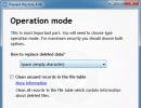 Choosing Operation Mode
