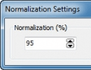 Normalization Settings
