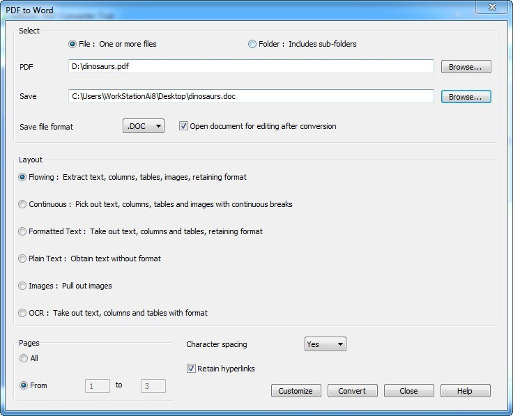 Configuring Output Settings