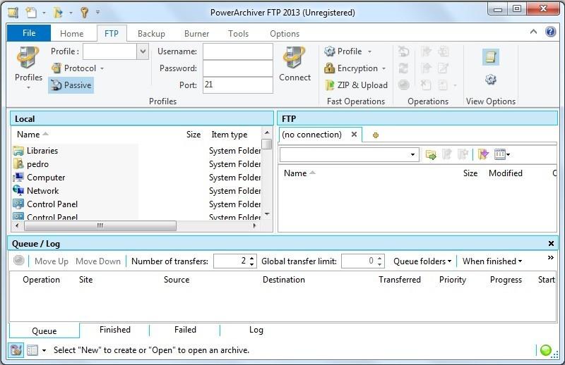 FTP Navigation