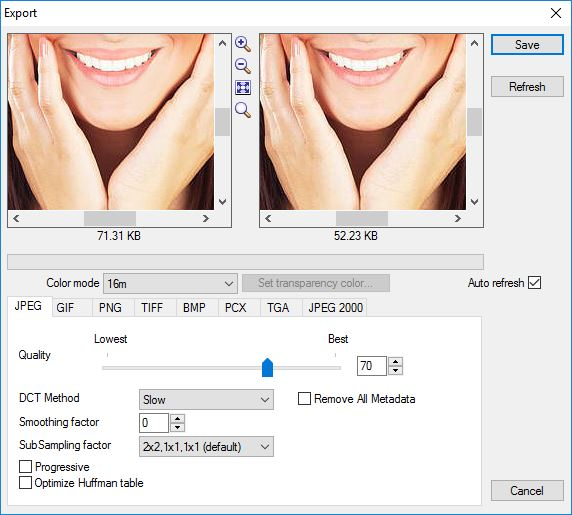 Exporting Image