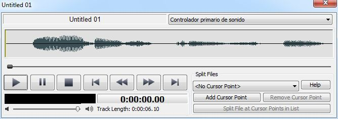 Playing the recording file