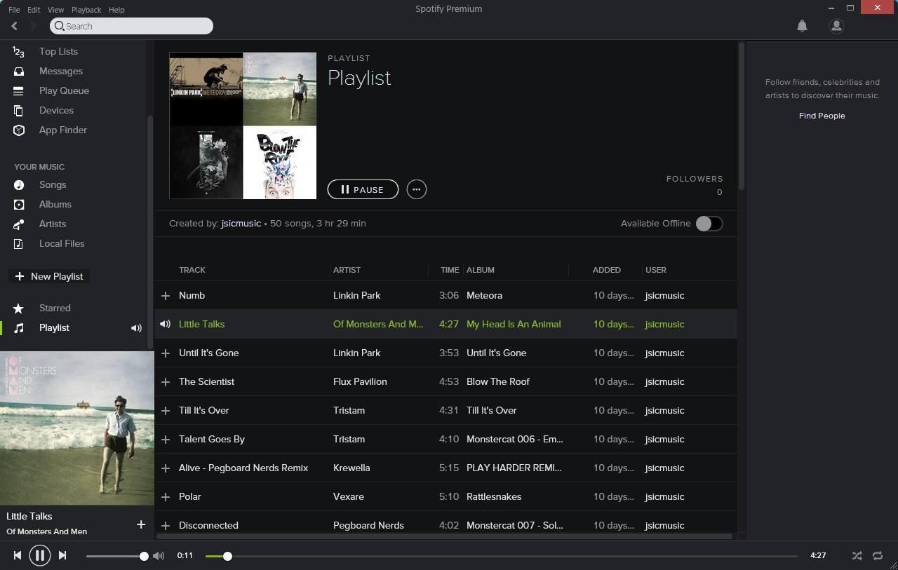 Listen To A Playlist