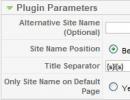 Parameters Window