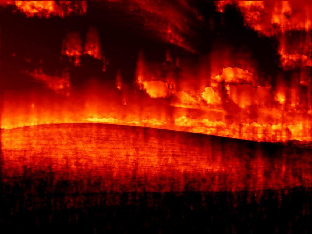 Burning Windows desktop