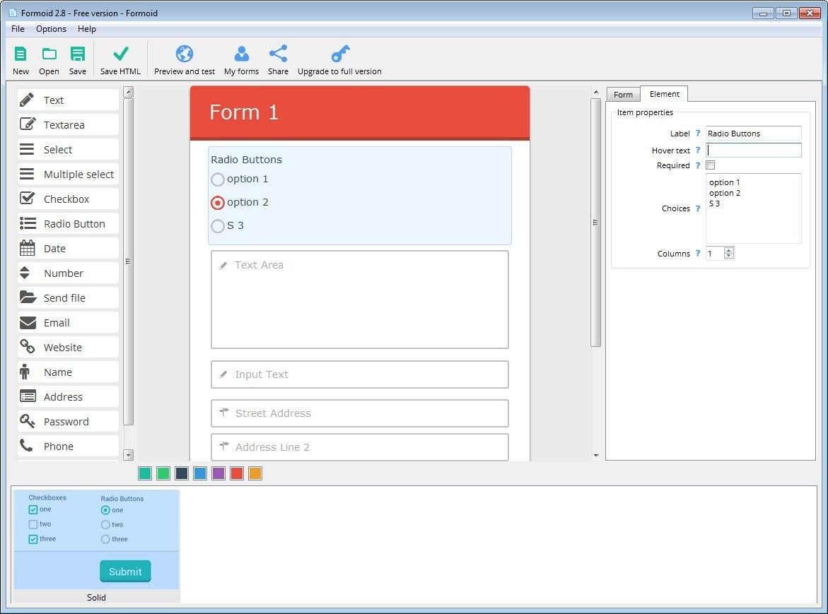 Editing a Form Element