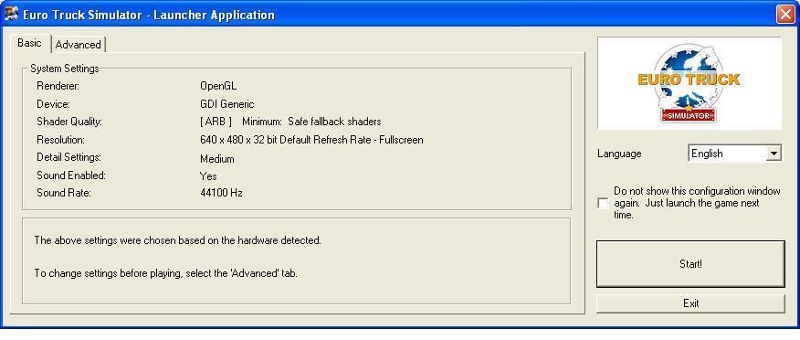 Application Launch Basic settings