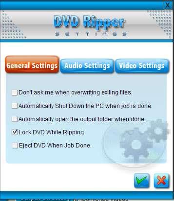 DVD ripper settings