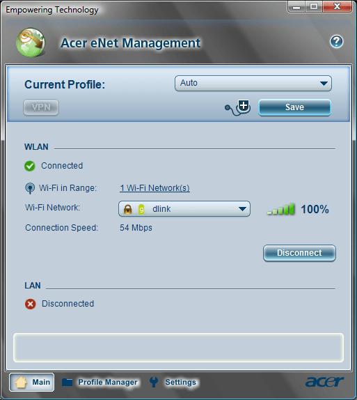 Acer eNet Management Main