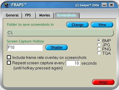Screenshots Tab