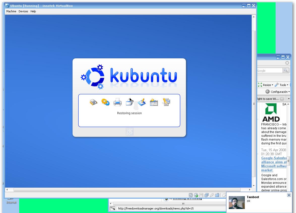 Windows XP with Kubuntu virtualized