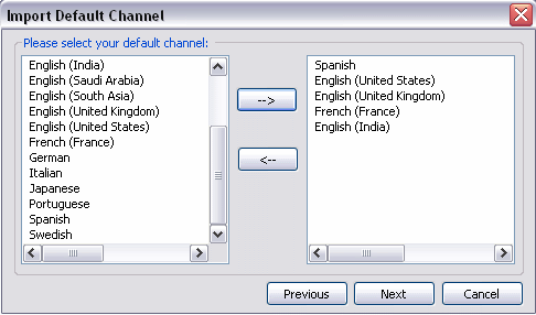 Importing Default Channels