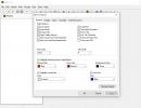 Editor options window