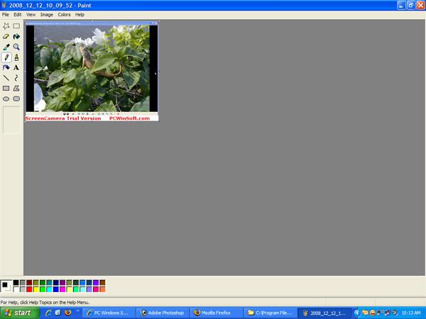 Screen captured by ScreenCamera.