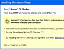 Shockwave installs norton security (optional)