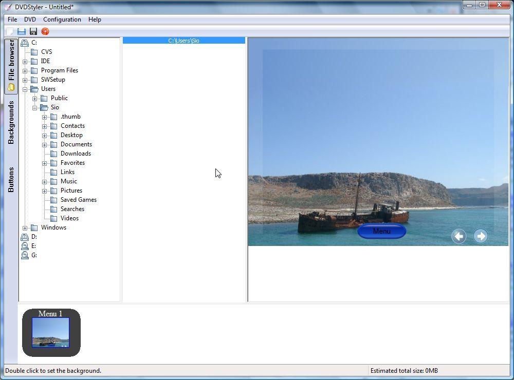 Main window - File browser
