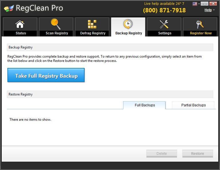 Back Up Registry