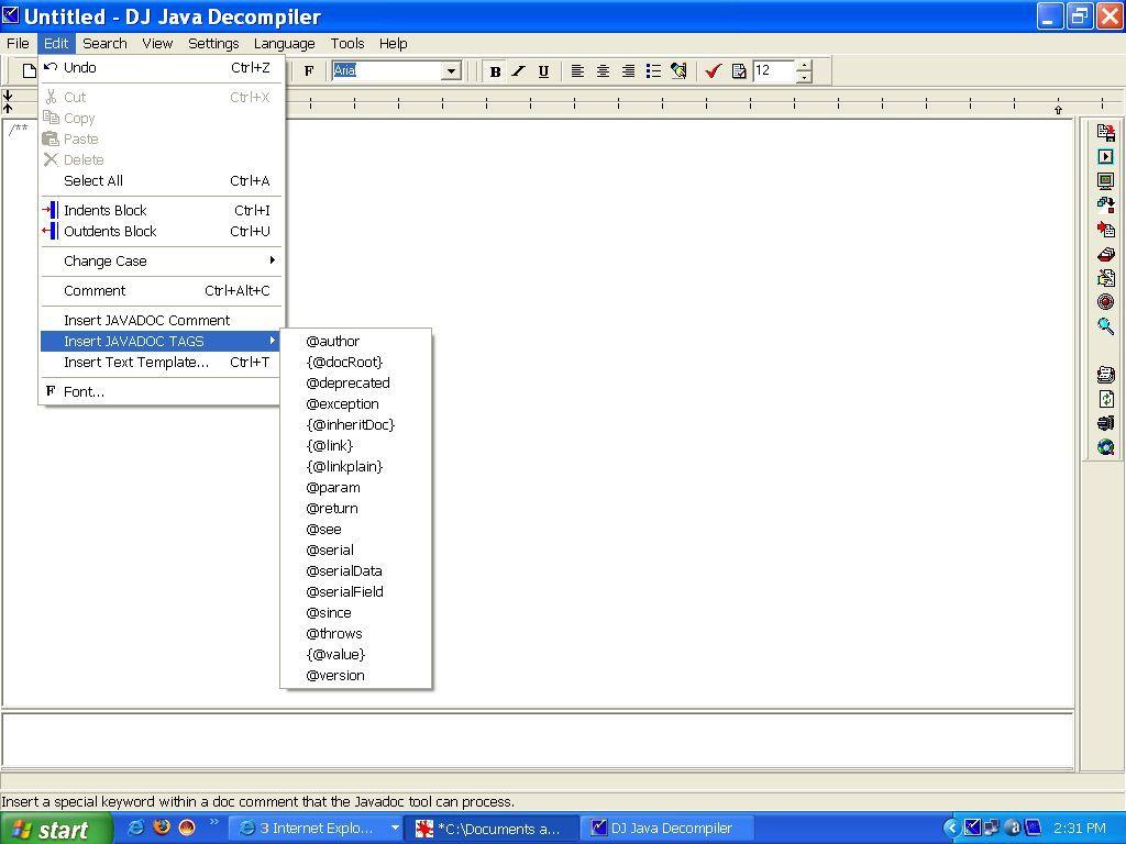 DJ Java Decompiler - Edit