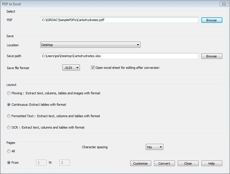 Converting a PDF