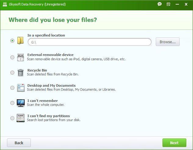 Select File Location