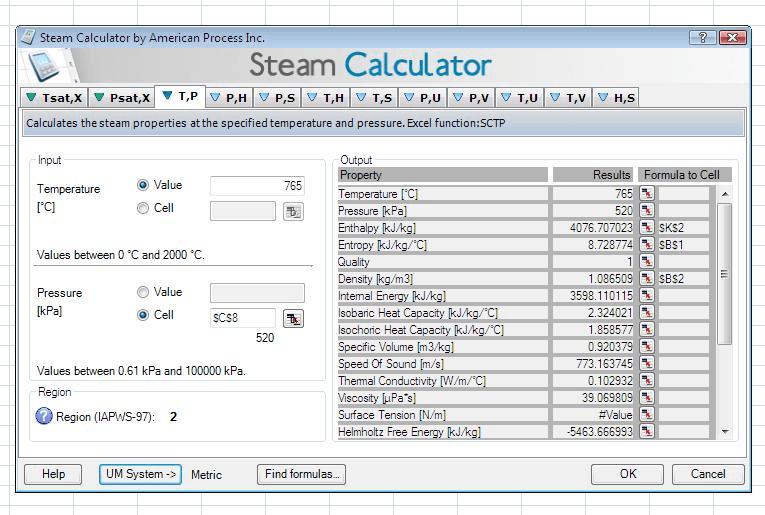 Steam Calculator screenshot