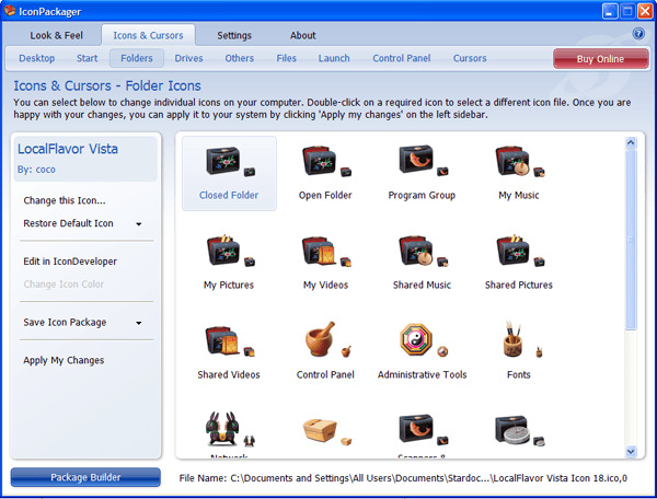 Icons and cursors.