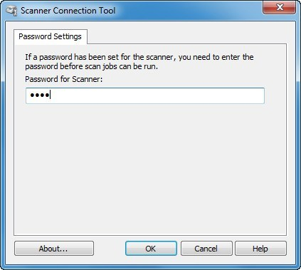 Scanner Connection Window