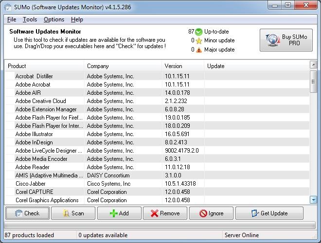 Main Interface - Apps List