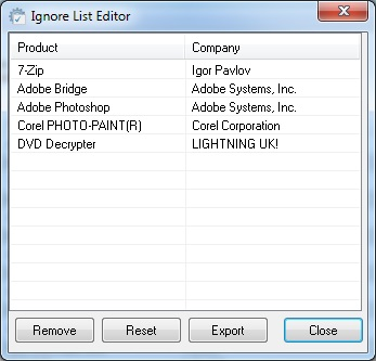Ignore List Editor