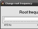 Changing root frequency