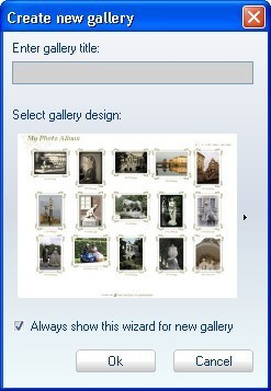 Create new Gallery