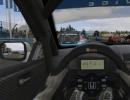 Inside the racing car.