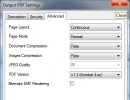 Output settings