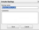 Create Backup Window