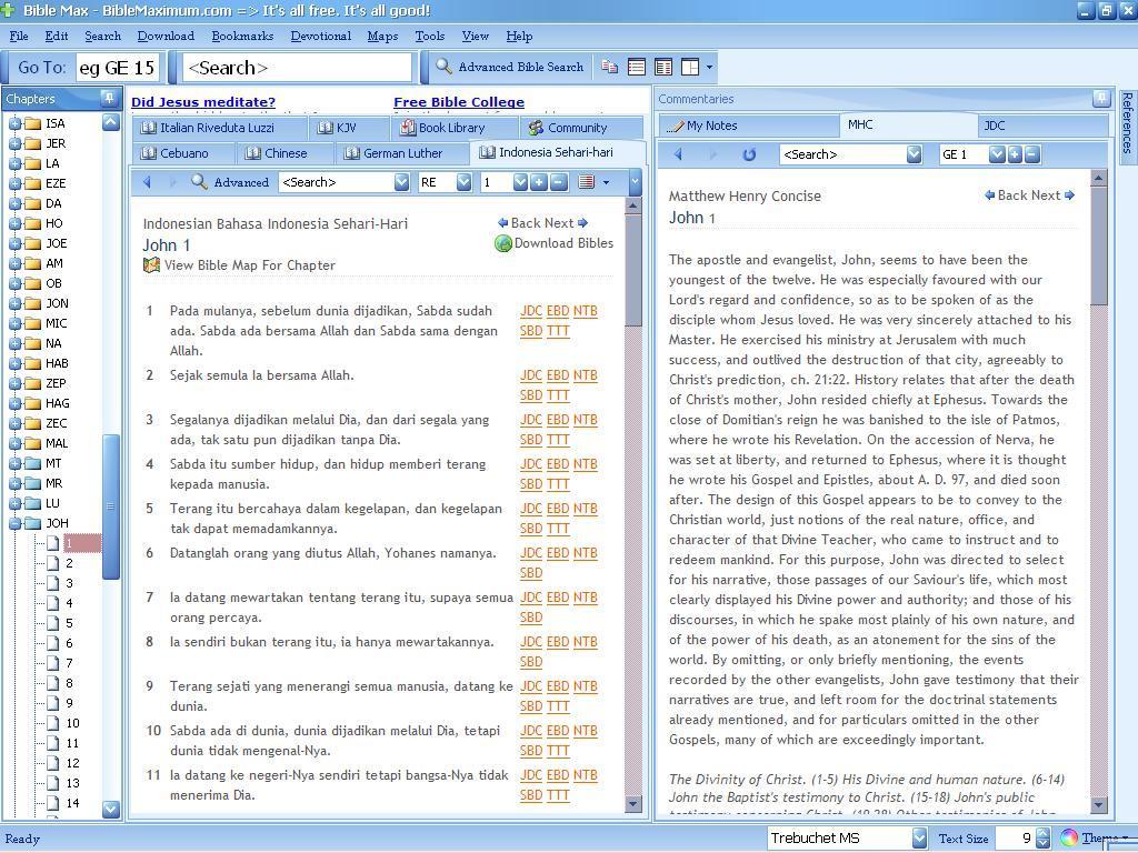 John's Gospel with commentary