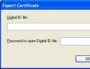 Export Certificate Option