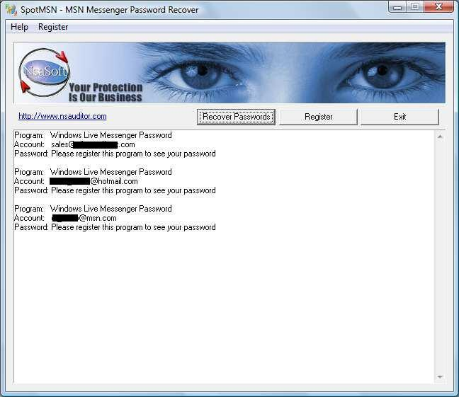 Sample Recovered Passwords