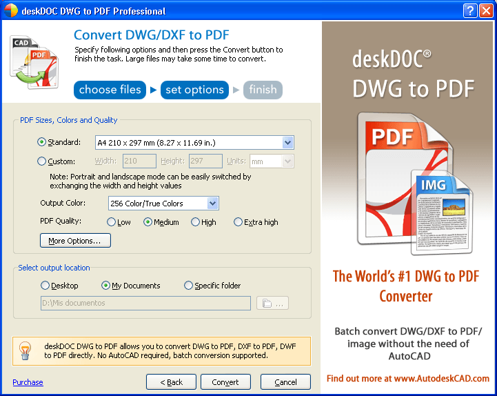 DWG-To-PDF Conversion Settings