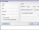FTP settings