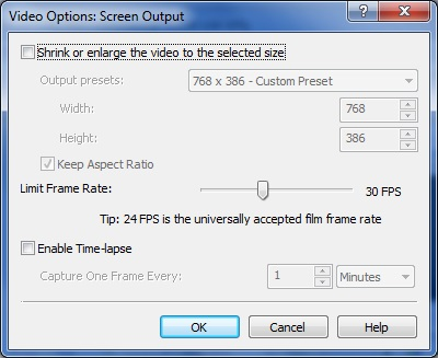 Screen Output Options