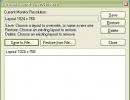 The Restore Desktop Window is equal to the Custom Layout window