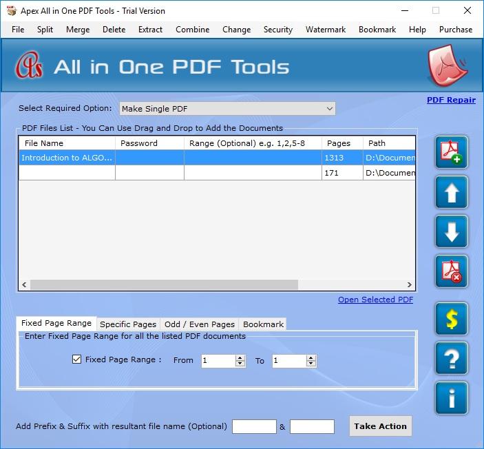 Merge PDFs Tab