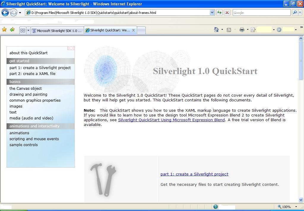 Quickstart tools