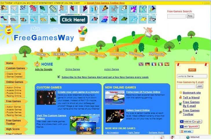 Free Games Way Main Page