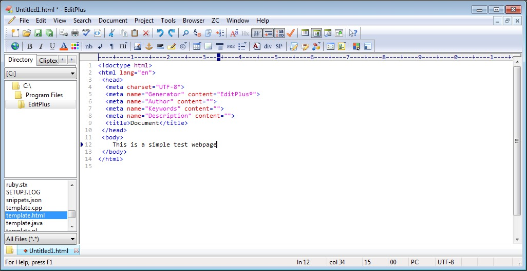 HTML Document Edition