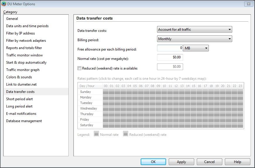 Advanced Options - Data Transfer Costs
