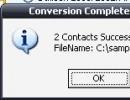 Conversion result
