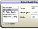 Output quality management