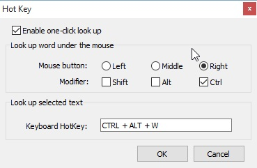 Hot Keys Configuration
