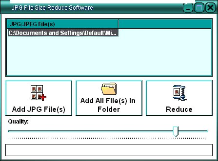 Select the jpg file you want to reduce